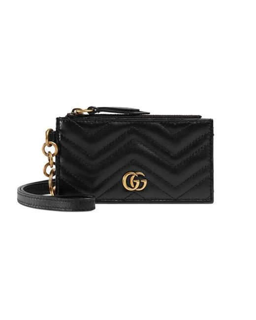 Gucci - Black GG Marmont Card Case - Lyst