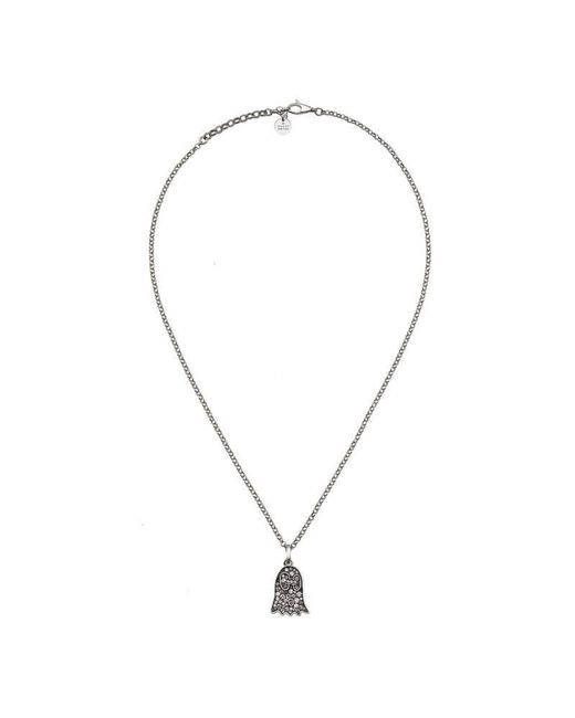 Gucci | Metallic Ghost Necklace With Diamonds | Lyst