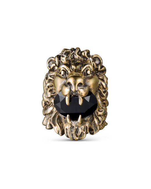 Gucci | Black Lion Head Ring With Swarovski | Lyst