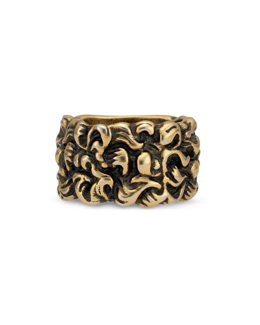 Gucci - Metallic Lion Mane Ring - Lyst