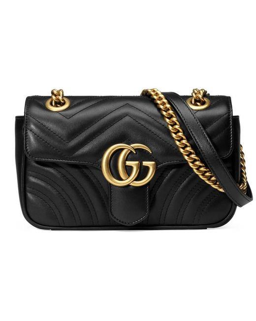 b0ed33e24 Gucci Gg Marmont Matelassã© Mini Bag in Black - Save 36% - Lyst