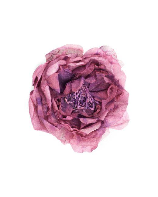Gucci - Purple Flower Pin In Silk - Lyst