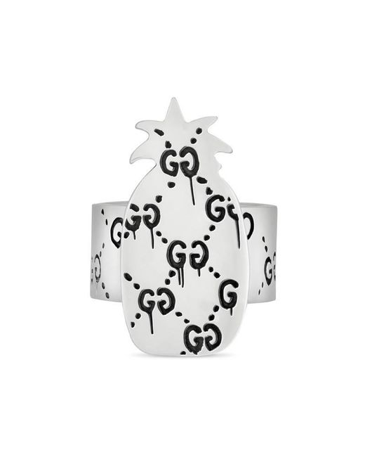Gucci   Metallic Ghost Pineapple Ring In Silver   Lyst
