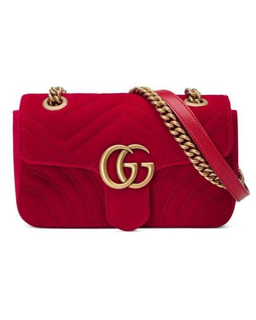 0b0ed6ef50f4 Gucci Marmont Bag Mini Red. GUCCI Gg Marmont Mini Matelassé Leather ...