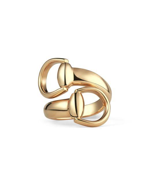 Gucci - Metallic Horsebit Ring In Yellow Gold for Men - Lyst