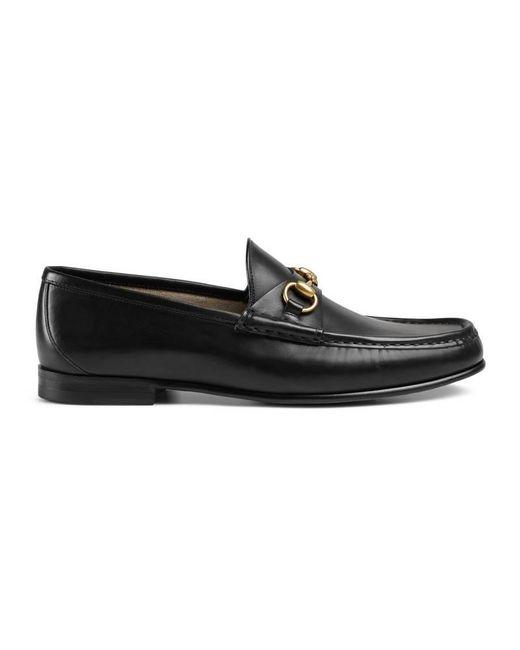 Gucci - Black 1953 Horsebit Leather Loafer for Men - Lyst