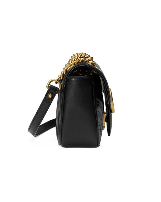 c2d476909c01 Gucci Gg Marmont Matelassã© Mini Bag in Black - Save 36% - Lyst