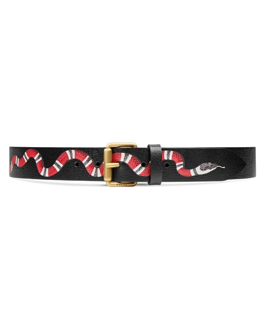 b0b404117697d Gucci - Multicolor Leather Belt With Kingsnake for Men - Lyst ...