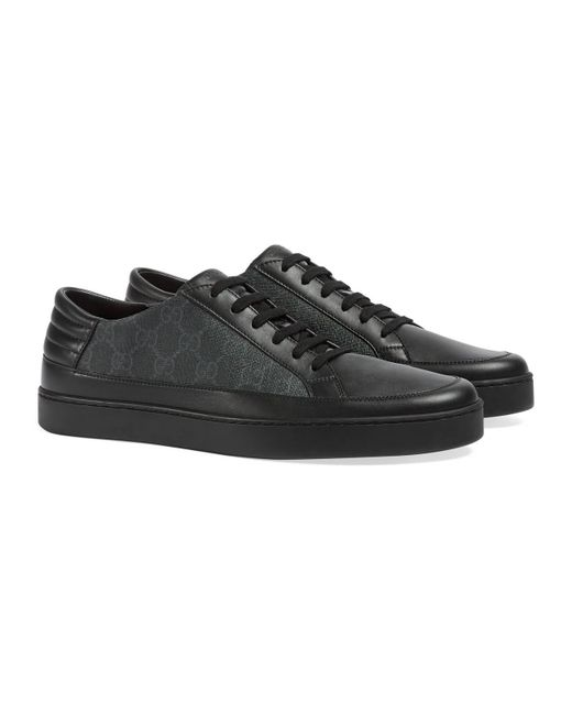 96918dacc35dc Gucci Sneaker Bassa In Tessuto Gg Supreme in Black for Men - Save 24 ...