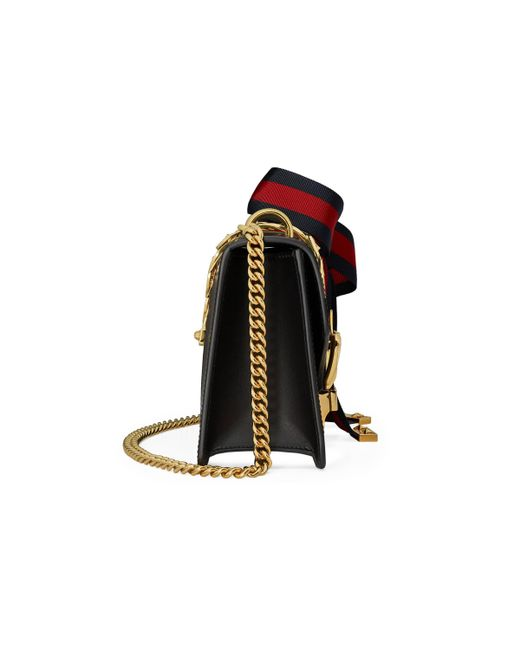 4a8c68592819 Gucci Sylvie Mini Chain Bag in Black - Save 9% - Lyst