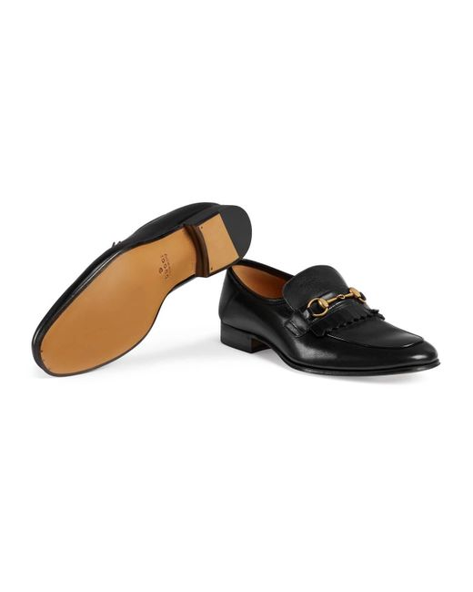4de001e45a5 Lyst - Gucci Horsebit Leather Loafer in Black for Men - Save 4%