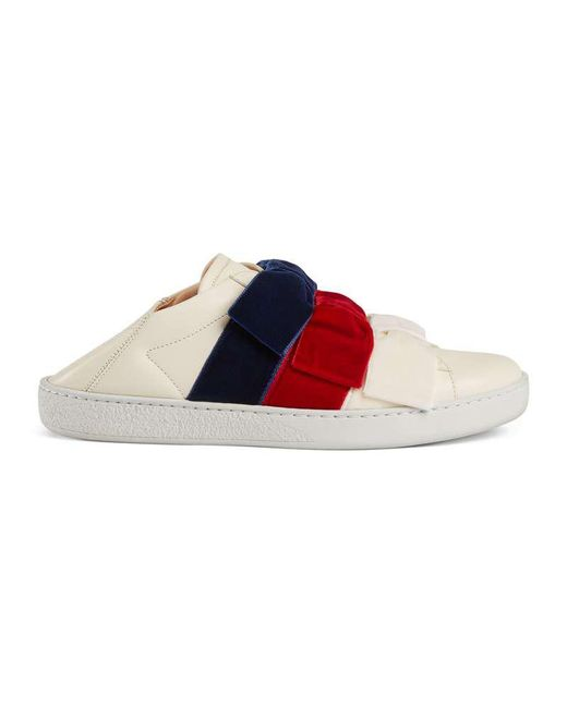 Gucci - Multicolor Ace Sneaker With Velvet Bows for Men - Lyst