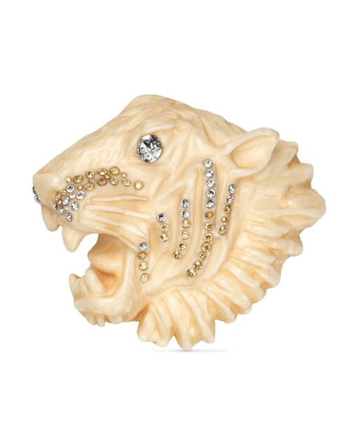Gucci - White Rajah Brooch In Resin - Lyst