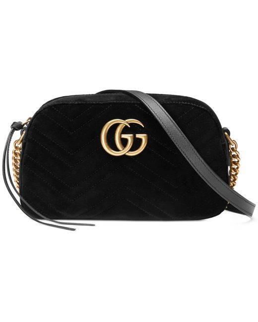 638694642fb7 Lyst - Sac porté épaule GG Marmont Gucci en coloris Noir