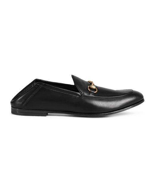 Gucci - Black Mocasín de piel con horsebit for Men - Lyst