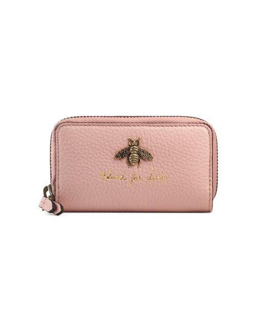 Gucci - Pink Animalier Key Case - Lyst