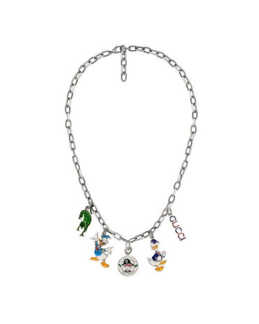 Gucci | Metallic Necklace In Silver With Charms | Lyst