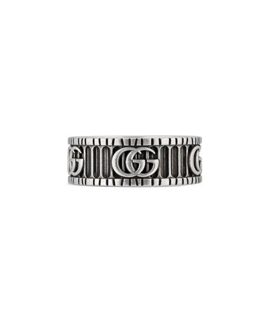 Gucci - Metallic Ring mit GG-Motiv for Men - Lyst