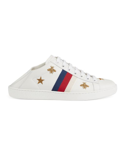 Gucci - White Ace Sneaker With Bees And Stars - Lyst