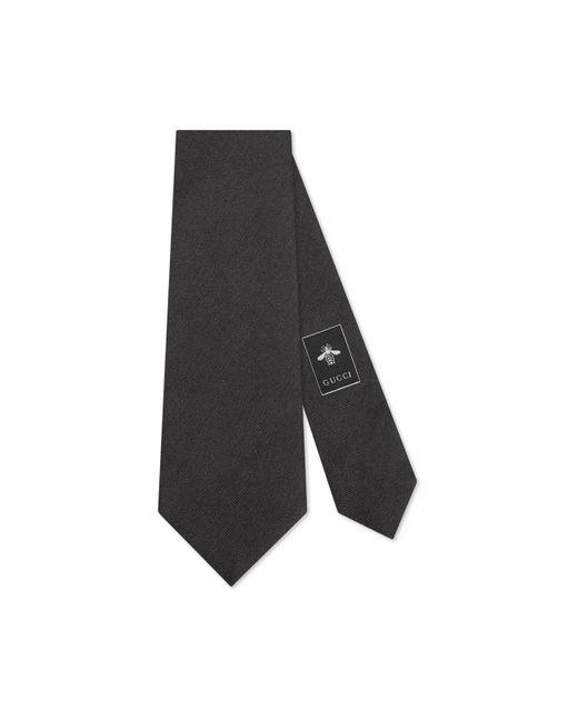 Gucci - Black Bee Underknot Silk Tie for Men - Lyst