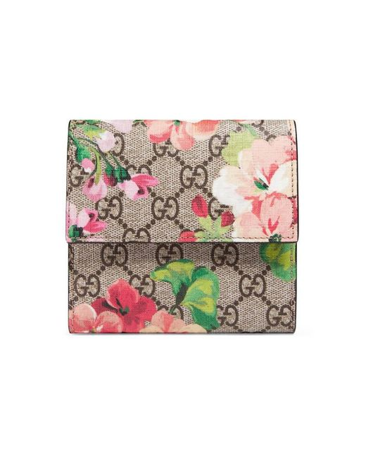 Gucci | Gray Gg Blooms French Flap Wallet | Lyst