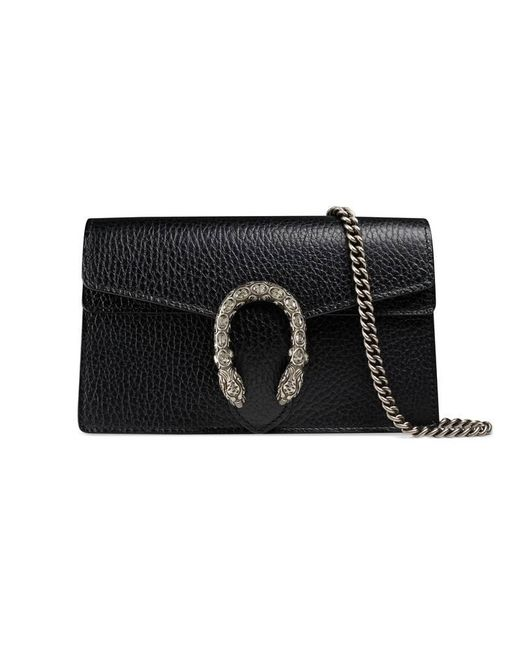 Gucci - Black Dionysus Leather Super Mini Bag - Lyst