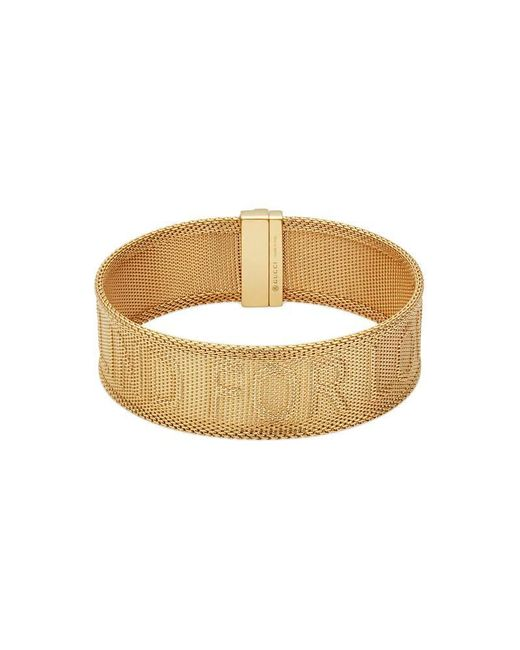 Gucci - Metallic Blind For Love Bracelet In Gold - Lyst