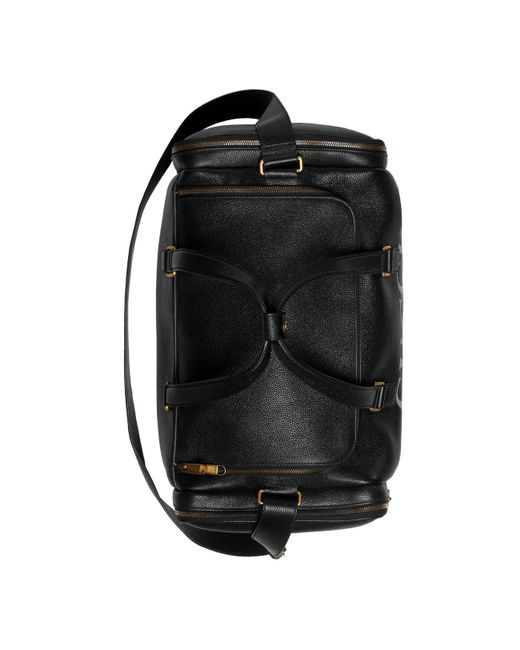 88b97b44944c ... Gucci - Black Print Leather Carry-on Duffle for Men - Lyst ...