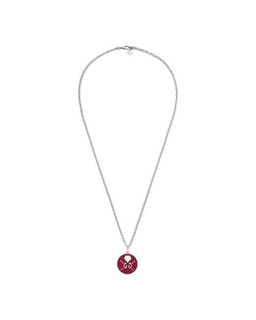 Gucci   Metallic Ghost Necklace In Silver   Lyst