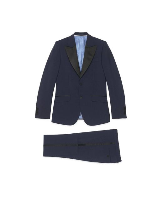 Gucci Blue Heritage Wool Mohair Tuxedo for men