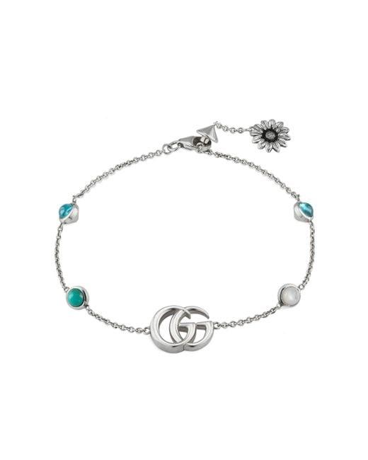Gucci - Metallic Logo Station Bracelet - Lyst