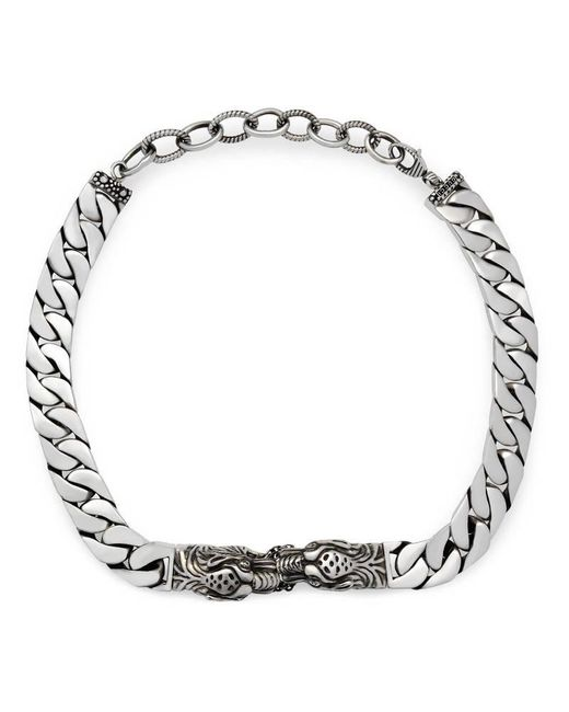 Gucci - Metallic Tiger Head Necklace - Lyst