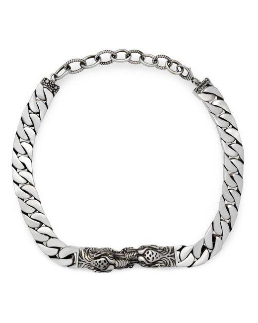 Gucci | Metallic Tiger Head Necklace | Lyst