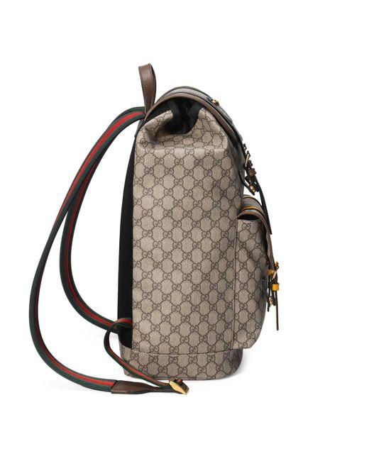 94799d0f65b7 ... Gucci - Natural Soft GG Supreme Backpack for Men - Lyst ...