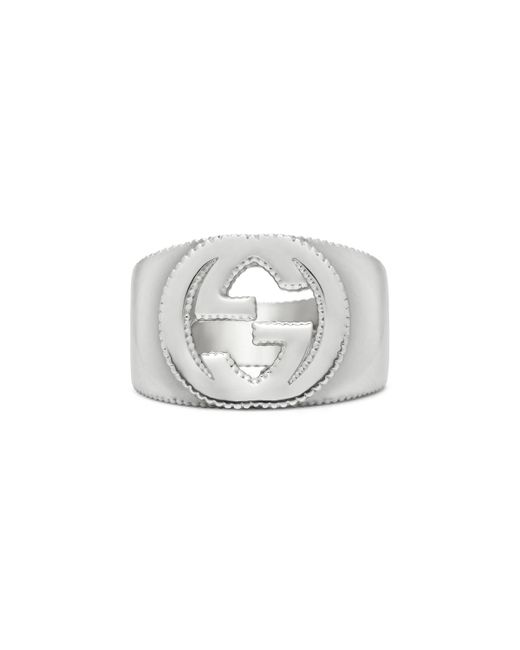 Gucci - Metallic Interlocking G Ring In Silver - Lyst