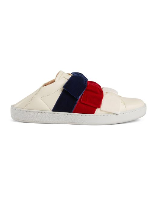 Gucci - Multicolor Ace Sneaker With Velvet Bows - Lyst