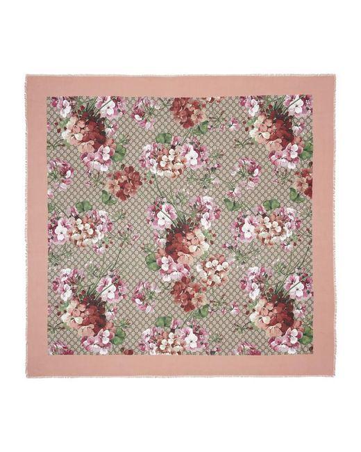 Gucci - Multicolor Modal Silk Blooms Print Shawl - Lyst