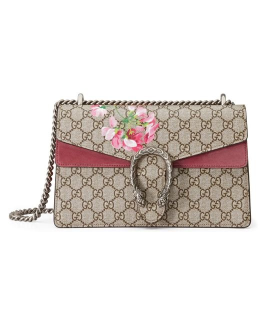 88fb30a1a115 Gucci - Multicolor Dionysus Small GG Blooms Shoulder Bag - Lyst ...