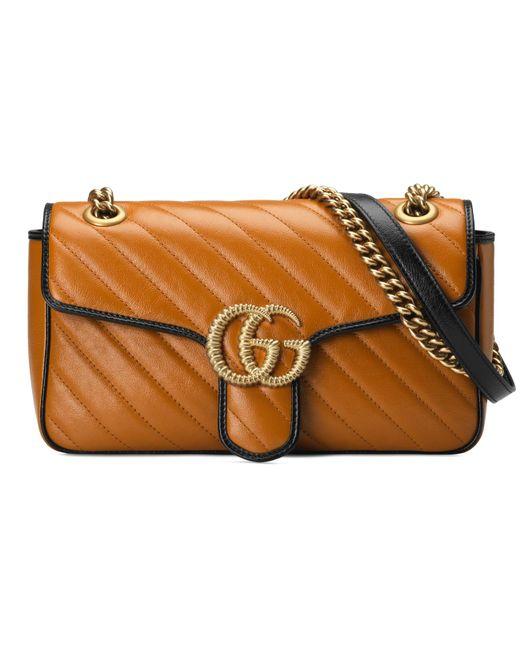 4b94f7bc0d7d Gucci - Multicolor GG Marmont Small Shoulder Bag - Lyst ...