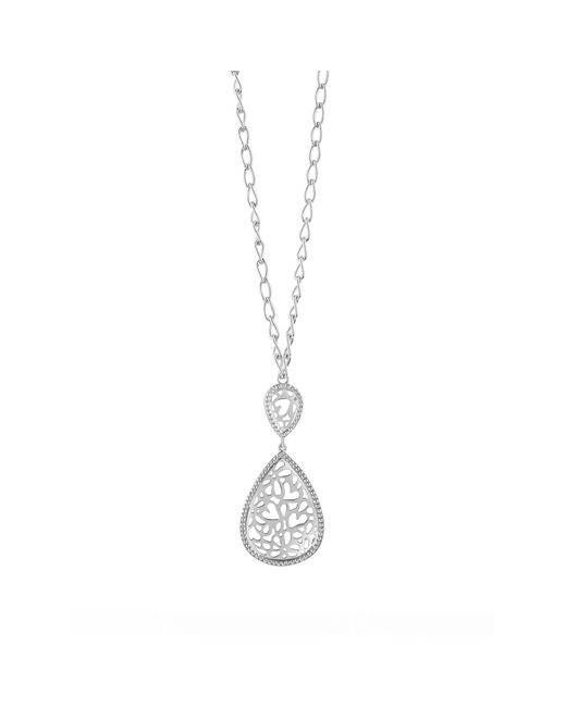 Guess | Metallic Riviera Rhodium-plated Long Necklace | Lyst