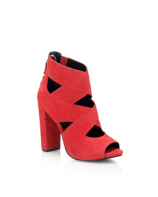 Guess | Red Abbey Suede Ankle Boot | Lyst