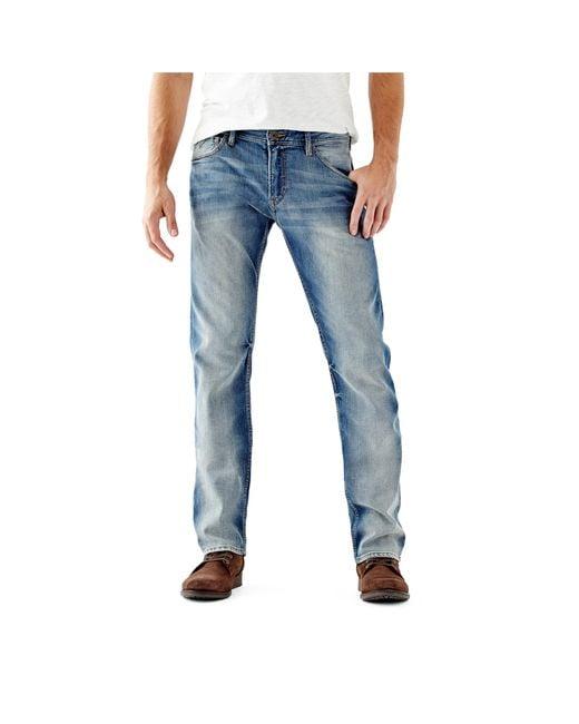 Slim straight jeans in arlington wash