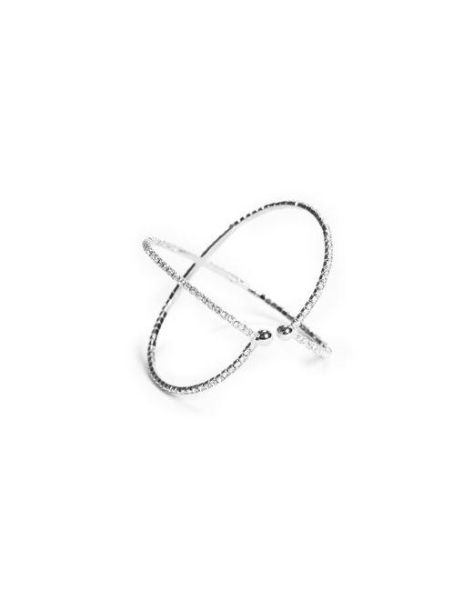 Guess | Metallic Rhinestone Cuff Bracelet | Lyst