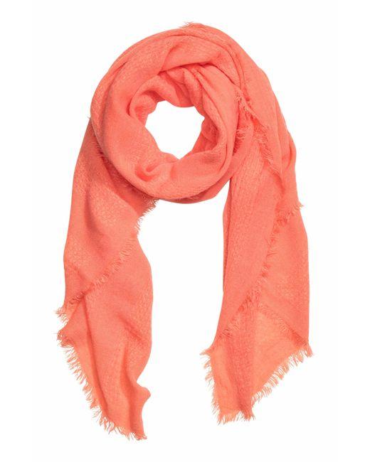 h m fringed scarf in orange apricot lyst