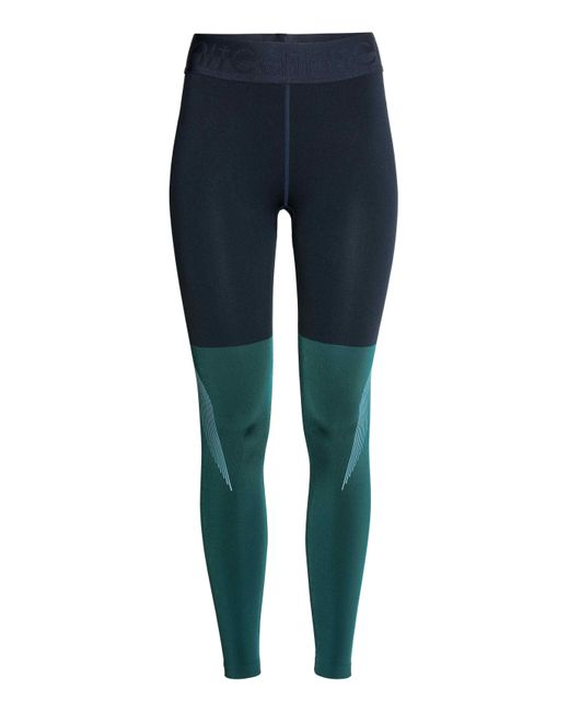 h m block coloured sports tights in blue lyst. Black Bedroom Furniture Sets. Home Design Ideas