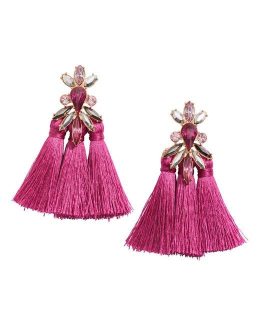 H&M | Pink Tasselled Earrings | Lyst