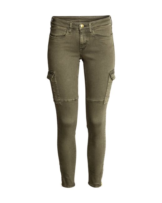 Amazing Cargo Pants  Dark Beige  Women  HampM US