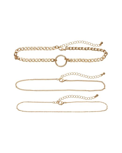 H&M | Metallic 3-pack Chokers | Lyst