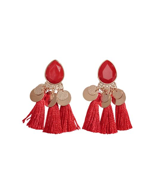 H&M | Red Earrings With Tassels | Lyst