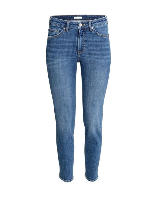 H&M | Blue Super Skinny Ankle Jeans | Lyst